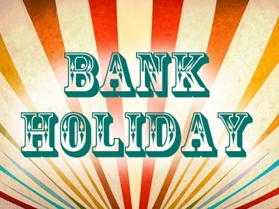 BANK HOLIDAY MONDAY/ WEDNESDAY 2ND SEPTEMBER SHOP CLOSURE